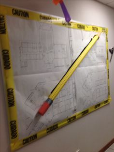 Blueprint wall- Chase has this under control! Construction Theme Classroom, Under Construction Theme, 2017 Vbs, Vbs 2016, Gadgets And Gizmos Vbs, Vacation Bible School 2017, Group Vbs, Sunday School Decorations, Maker Fun Factory Vbs