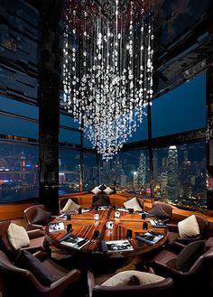 High altitude Ozone bar Ritz Carlton Hong Kong (118th floor of the ritz-carlton hong kong)
