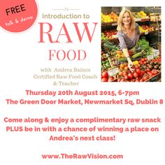 Free talk on Raw Food, Dublin 8 – Social Media by Raw Living, Raw Food Recipes, Dublin, Ireland, Social Media, Snacks, Free, Appetizers, Raw Recipes