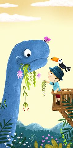Dino feeding time on Behance