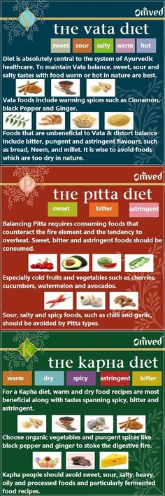 Diet Basics for Vata, Pitta, and Kapha | Omved
