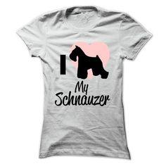 I love my schnauzer - #tee test #kids hoodies. PRICE CUT => https://www.sunfrog.com/No-Category/I-love-my-schnauzer--Ladies.html?60505
