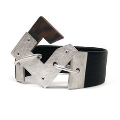 BRACELET  Silver Wenge and Leather Armwear  Endeavor  by mkwind, $65.00