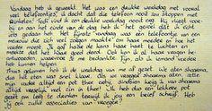 Een aller eerste brief schrijven