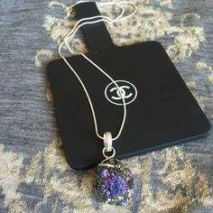 """NEW TITANIUM QUARTZ DRUZY GEMSTONE PENDANT NECKLAC 100% NATURAL. WILLING TO CHANGE OUT CHAIN FOR DIFFERENT LENGTH OR STYLE.❤️New necklace. Pendant drop: 1.5"""" Titanium Quartz druzy gemstone with 925 sterling silver overlay. Sterling silver 925 22"""" chain. Great to keep or give as giftNO TRADES OR QUESTION COMMENTS FROM NON SERIOUS BUYERSDO NOT BUNDLE UNLESS YOU INTEND TO BUYDO NOT LOWBALL & NO PRICE COMMENTSPRICE IS REFLECTED ON PM FEES AND HOW MUCH I PAID Boutique Jewelry Necklaces"""
