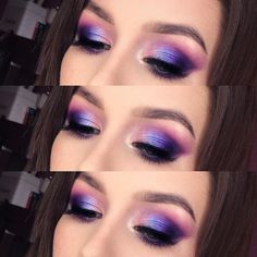 #purplemakeup #makeup #makeuplook #makeuplover #makeupeye #makeuponfleek #falselashes #brows #makeupartist #beauty #beautyblogger #girl…