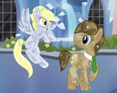 Doctor Whooves and Derpy crystal