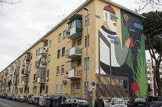 StreetArtRoma: The Blind Wall | Agostino Iacurci | 2014 | Zona: San Basilio | #art #streetart #roma