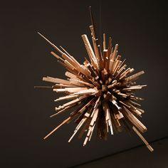 james mcnabb city sphere scrap wood sculpture (2) http://twistedsifter.com/2013/02/cityscape-sculptures-carved-from-scrap-wood-james-mcnabb/