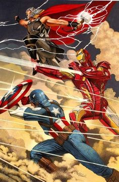 The Avengers Trinity by David Michael Beck. Thor is the spirit,Iron Man is the heart,and Captain America is the soul of the Avengers.