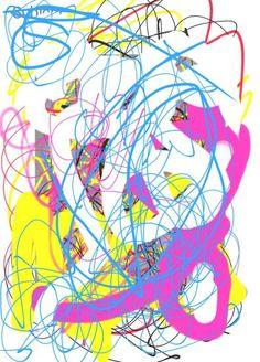 #Fractal no 8 - experiment digital pen dedicated to Jackson Pollock