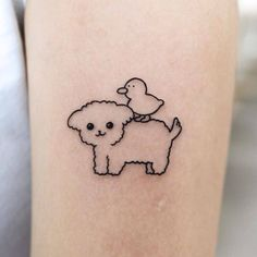 Goodmorningtown is a tattoo artist based in Korea Seoul. He is a very popular tattoo artist in Korea. His tattoos usually include cute drawings. Cute Tats, Cute Tiny Tattoos, Cool Small Tattoos, Little Tattoos, Pretty Tattoos, Cool Tattoos, Tattoos Skull, Baby Tattoos, Time Tattoos
