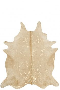 Metallic cowhide. I want to layer this over a sisal. DEVORE BEIGE RUG