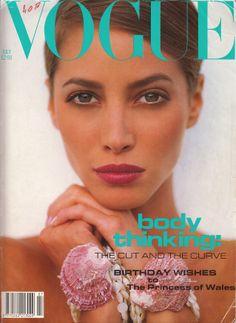 UK VOGUE July 1991 : Christy Turlington by Sante d'Orazio