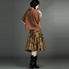 Woolen And Gauze Inset Tops Red - $192 - SKU: 516393 - Buy Now: http://elegente.com/nzx.html #ChineseladyQipao #Qipao #Cheongsam