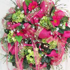 Spring Deco Mesh Wreaths   Deco Mesh Spring & Summer Wreath, Gorgeous and Showy on Your Door ...