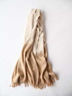 6b13399b4 Naturally dyed with Cutch. A scarf handspun and handwoven in Himachal  Pradesh India. Made