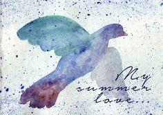 Bird watercolor background by @Graphicsauthor