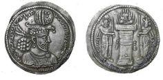 Ancient Coins - Hormizd II 303-309 AD AR Drachm