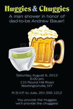 HUGGIES & CHUGGIES bbq, beer and babies Diaper Party Invitation Printable diy Customizable. $15.00, via Etsy.
