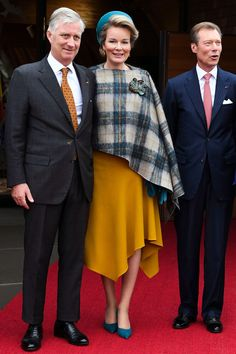 King Philippe and Queen Mathilde of Belgium, Grand Duke Henri of Luxembourg visit the open air exhibition on Schengen agreement 17 October 2019 in Luxembourg Night Photography, Scenic Photography, Photography Tips, Landscape Photography, Royal Clothing, Princess Victoria Of Sweden, Grand Duke, Luxembourg, Royal Fashion
