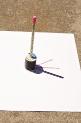 First Grade Earth & Space Science Activities: Make a Shadow Clock! 1st Grade Science, Primary Science, First Grade Activities, Elementary Science, Science Classroom, Science Fair, Science Lessons, Science Education, Teaching Science