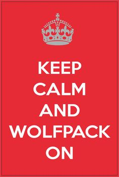 Keep Calm and Wolfpack On NC State North Carolina by StickerTiger, $2.99