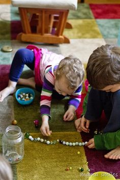 Fun With Marbles by mamasmiles #Kids #Games #Marbles