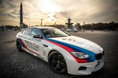 """The BMW M6 Gran Coupé Safety Car at the BMW Brand Store """"BMW George V"""""""