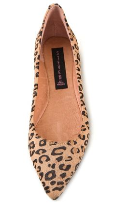 Always had a thing for leopard flats (rule: animal print in small doses) Steven Eternnal Haircalf Flats