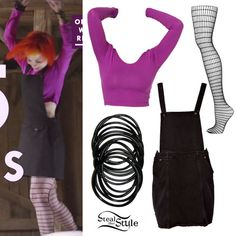 American Apparel Long Sleeve Crop Top ($32.00); Topshop Black Open Grid Tights ($16.00)
