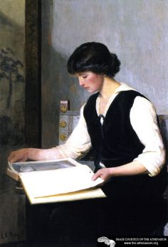 ✉ Biblio Beauties ✉ paintings of women reading letters  books - Reading,  Lilla Cabot Perry