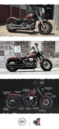 The perfect blend of classic, raw bobber style and the power of a High Output Twin Cam 103B engine. | 2017 Harley-Davidson Softail Slim