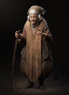ArtStation - Old wise woman, Remy Dupont