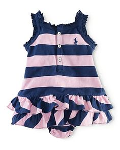 Ralph Lauren Childrenswear Infant Girls' Spring Dress - Sizes 3-9 Months | Bloomingdale's