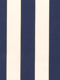 Graphic navy stripes with a tiny yellow pinstripe. #wallpaper AmericanBlinds.com Nautical Stripes, Navy Stripes, French Colonial, Diy Wallpaper, Bedroom Ideas, Bathrooms, Decorations, Wallpapers, Yellow