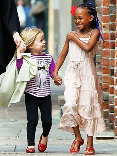 Sisterly love. (Vivienne and zahara jolie-pitt)