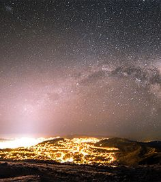 Milky Way over Welington, New Zealand