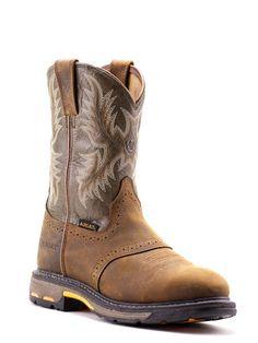 Mens Ariat Workhog Work Boots 10001188 - Texas Boot Company is located in Bastrop, Texas. www.texasbootcompany.com
