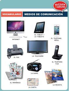 Medios de comunicación. http://quijotesancho.com/vocabulario-2/ Descarga: http://quijotesancho.com/vocabulario/medios_comunicacion.pdf