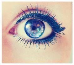 the eyelashes are like perfect ♡ // eye edit // galaxy