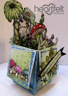 Winking Frog Pop Up Box  #fathersday card from #heartfeltcreations.