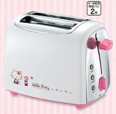 the new hello kitty toaster. classy in chrome! Hello Kitty Toaster, Hello Kitty Kitchen, Pop Up Toaster, Number Two, Cool Cats, Sanrio, Japan, Chrome, Classy