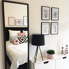 Room black and white❤❤ Home Bedroom, Bedroom Decor, Bedrooms, New Room, House Rooms, Room Inspiration, House Design, Design Design, Interior Design