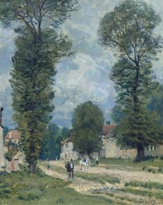 The Road to Versailles, 1875. Alfred Sisley