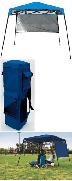 Canopies and Shelters 179011 Bravo Sports Quik Shade Ultra Compact 6 X 6 Blue Backpack & Canopies and Shelters 179011: Quik Shade Go Hybrid Compact 7.5X7.5 ...