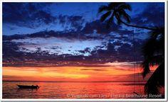 A melhor foto de por-do-sol em Fiji.