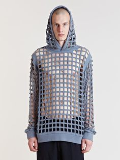 Raf Simons Archive SS06 Perforated Hooded Jumper