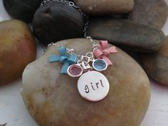Gender Reveal Pregnancy announcement  2 sided by thecharmedwife, $37.00