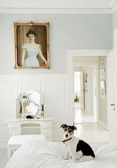 white & aqua / sweet pup